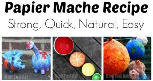 How to make Paper Mache Paste from Flour
