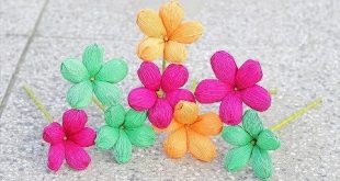 How to make Paper Flower 2017 ( Crepe Paper Flowers ) - DIY Paper Crafts - YouTu...