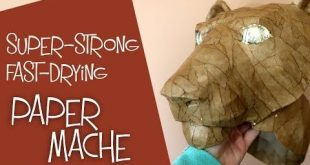 Create a strong paper mache mask really fast by using Titebond III glue instead ...