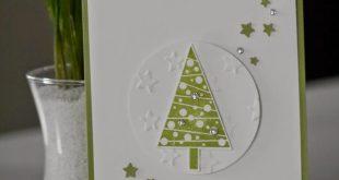 Die erste Weihnachtskarte (beemybear's Stempelblog)