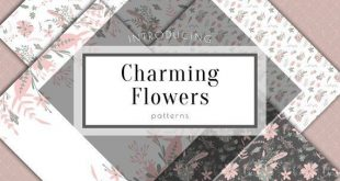 Floral digital paper, flower background, digital paper pack, scrapbook, floral repeat pattern, wedding pattern, planner girl sticker, rustic