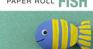 Papierrolle Fisch Recycling Handwerk