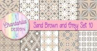 Free digital paper in sand brown and grey patterns. Use them in your digital scr...