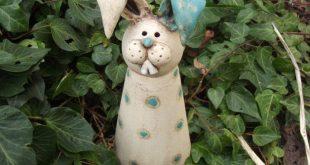 Gartenfiguren - Hase Lümmelchen - ein Designerstück von tongestalten bei DaWan...