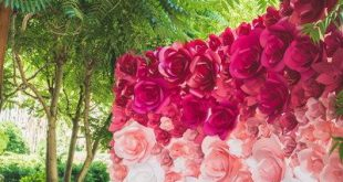 Ombre Paper Flower Wedding Backdrop - Wedding Backdrop - Paper Flower Backdrop - Paper Flowers