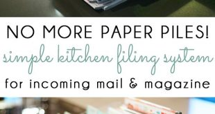 {organizing with style} Managing Kitchen Paper Piles with a Simple Filing System