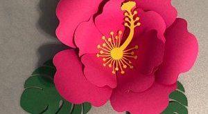 50 PRINTABLE Paper Flower Templates, Printable PDF Paper Flower Templates, molde de flores de papel / print-cut-trace large flower templates