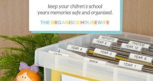 BACK TO SCHOOL ORGANISING: School Years File Box