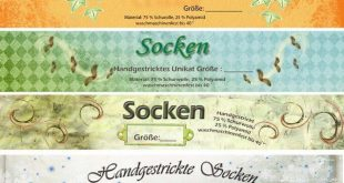 Banderole / Verpackung für selbstgestrickte Socken *Herbst