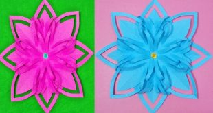 Christmas Decoration FLOWERS PAPER HANDBOOKS - Paper flower Preschool Cr...