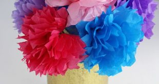 Colorful & Easy Tissue Paper Flowers