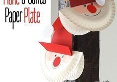 """DIY Basteln mit Kindern: Bastelidee """"Weihnachtsmann"""" aus Papptellern - Bastelspa..."""