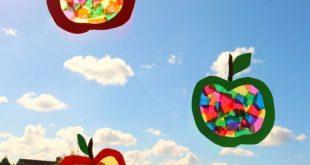 DIY, Kids- Basteln im Herbst, Apfelfensterbild - MaRen