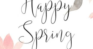 Happy Spring - Let's Celebrate with a Lovely Free Printable
