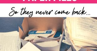 How to Declutter Paper Piles [The Easiest Way to Banish Them FOREVER!]