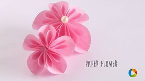 How to make: Paper Flower (Kusudama Flower) - YouTube