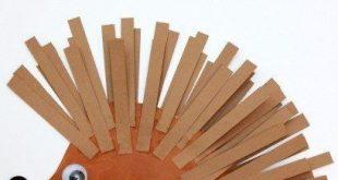 Machen Sie einen Pappteller-Igel
