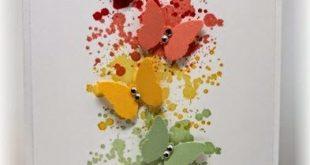 Malen Sie Spritzer Hintergrund mit Multi Farbe Schmetterlinge