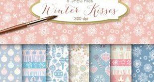 New Freebies Kit of Backgrounds - Winter Kisses (Far Far Hill)