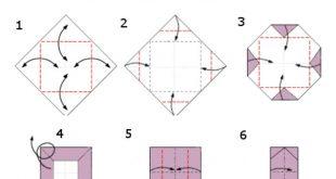Origami Teelichit - Stern aus Washi #Origami