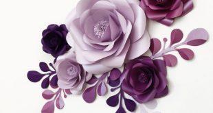 Papier Blumen - Mini Hintergrund - Partydekoration - Prinzessin Themen Hintergrund - Baby Party Dekoration mit Blumen aus Papier