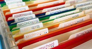 School Work Filing System Organization Labels & Water resistant Custom Name Label Stickers. Set of 61! SWK