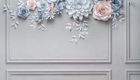 Wedding Paper Flower Backdrop - Alternative Paper Flower Arch - Wedding Reception Decor