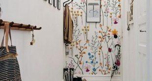 Wilde Blumen entfernbare Tapete – Aquarelltapeten, Aquarell, helle Tapete, bunt