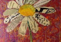 elizabeth st hilaire nelson, mixed media, flower, paper painting