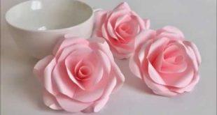video demo: 【Paper Flower】とても簡単!美しいバラ Beautiful Paper ...
